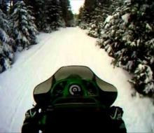 Snowmobile trip 2012 Jan 28th U.P. Michigan trail riding.. 5 sleds Iron River MI