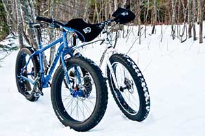 Fat Tire bikes at the Swedetown Ski Trails in Calumet .