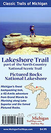The New Lakeshore Trail Map from MichiganTrailMaps.com.