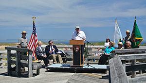 Sen. Carl Levin speaking at the Sleeping Bear Dunes Wilderness dedication.