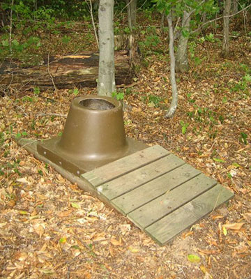 A backcountry toilet on Grand Island National Recreation Area.
