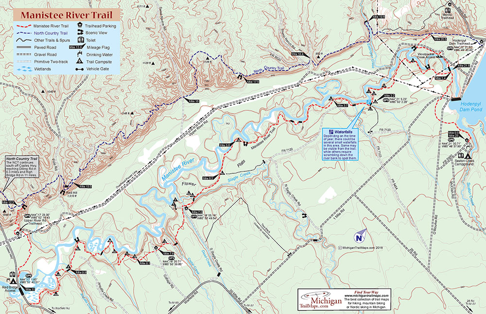 Manistee River Trail & North Country Trail - Michigan Trail Maps