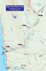 A map from Porcupine Mountains Wilderness State Park