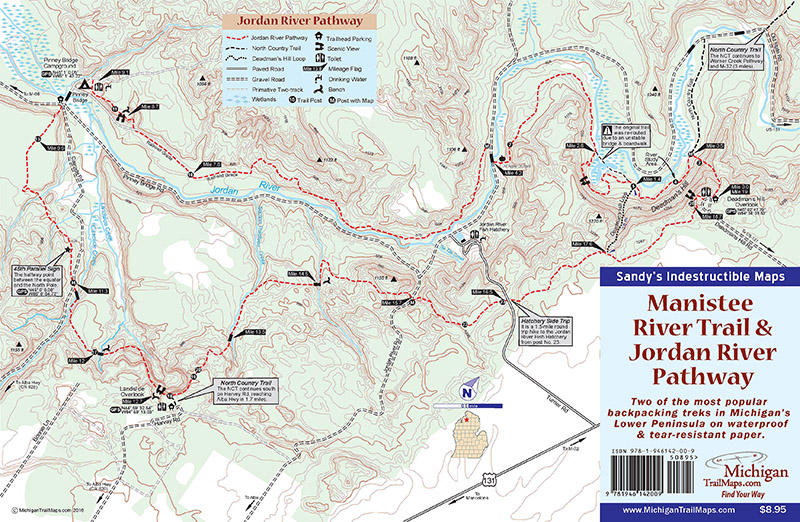 Manistee River Trail Jordan River Pathway Michigan Trail Maps - World map jordan river