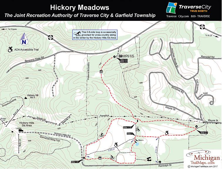Ski Resort Michigan Map.Skiing Snowshoeing In The Big Hickory