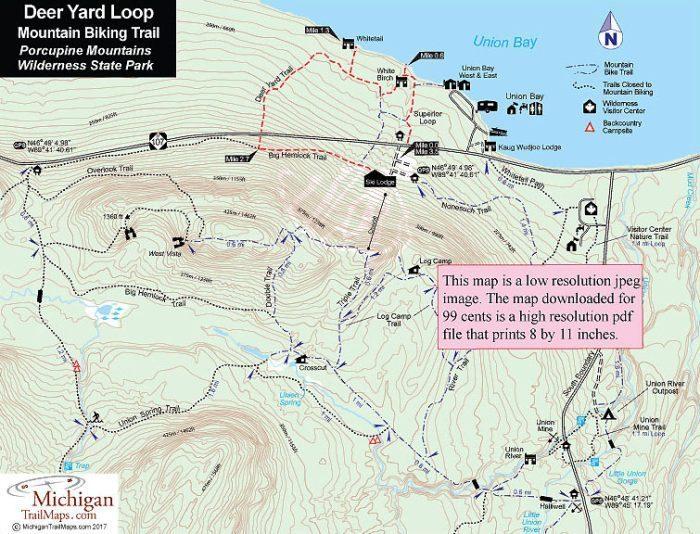 Porcupine Mountains: Deer Yard & Superior Loop on