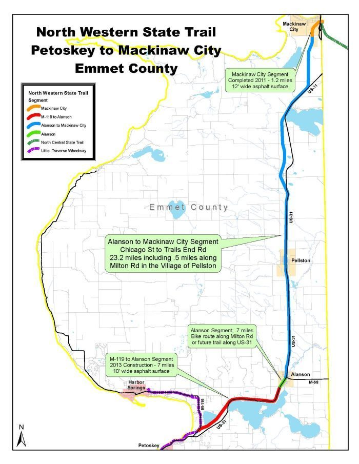 North Western State Trail on sanilac petroglyphs trail map, crawford county trail map, cleveland trail map, ann arbor trail map, mount pleasant trail map, columbus trail map, milford trail map, calumet trail map, rochester trail map, kent island trail map, farmington trail map, marquette trail map, north manitou trail map, howell island trail map, lincoln park trail map, tettegouche state park trail map, houghton lake trail map, harbor springs trail map, kearsarge trail map, coldwater trail map,