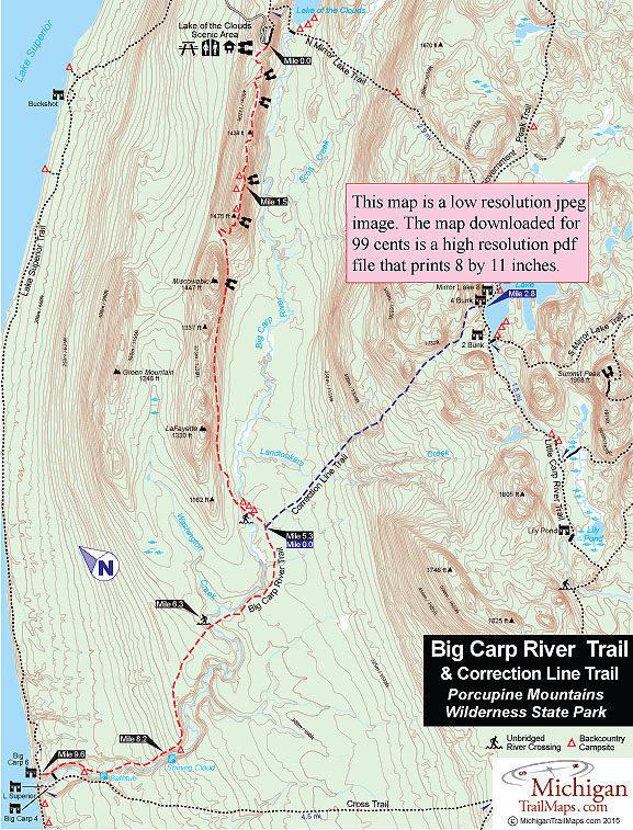 Porcupine Mountains: Big Carp River Trail