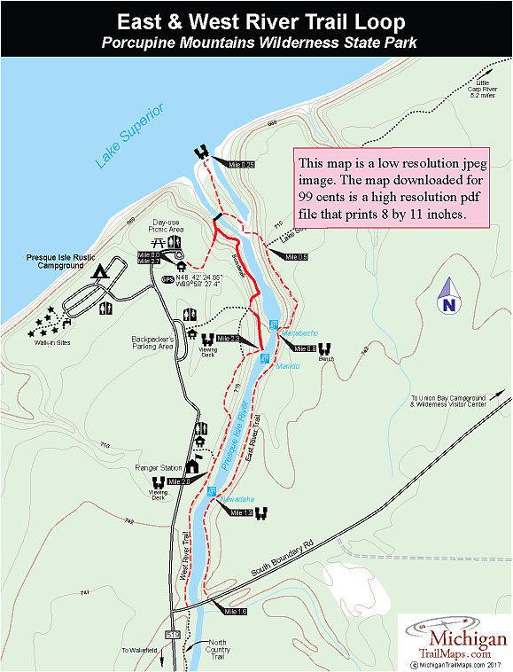 Porcupine Mountains: East-West River Trails
