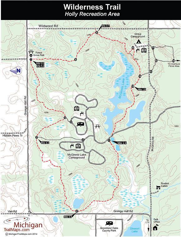 Holly Recreation Area Map Holly Recreation Area: Wilderness Trail