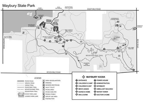 Maybury State Park Map Maybury State Park: History Trail
