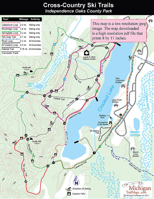Independence Oaks County Park CrossCountry Ski Trails