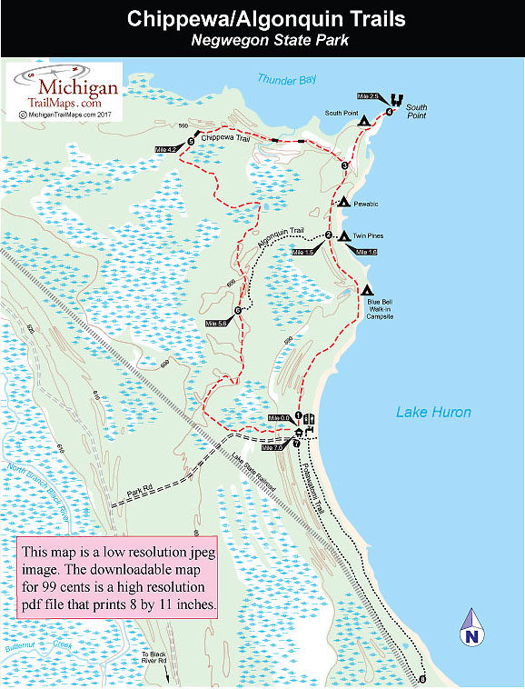 Negwegon State Park Chippewa Trail