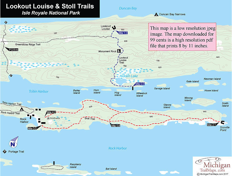 Isle Royale NP: Lookout Louise Trail