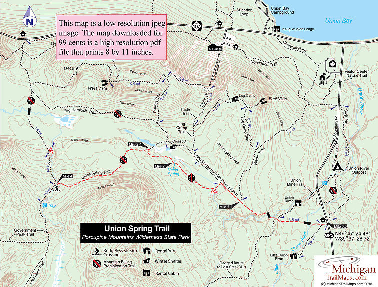 Porcupine Mountains: Union Spring Trail