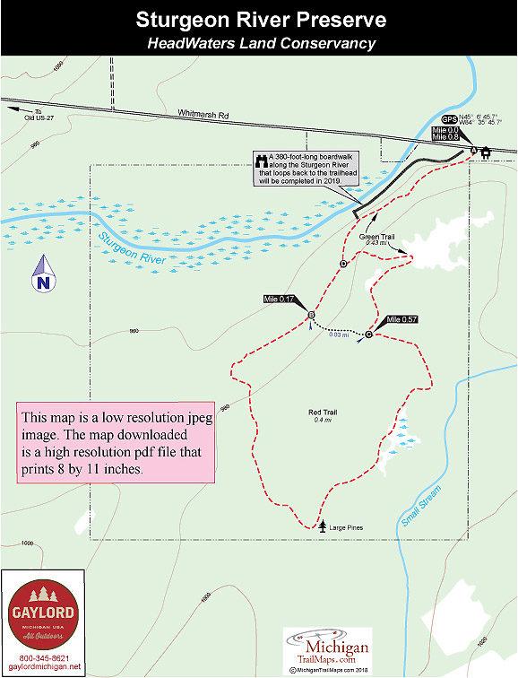 sturgeon river michigan map Sturgeon River Preserve